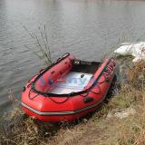 PVCファブリックが付いているLiya 2person湖の漁船の軽量のボート