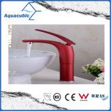 黒い浴室の真鍮の洗面器の単一のハンドルのコック(AF2261-6B)