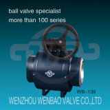 GearboxのAPI 6D Fully Welded Full Port Ball Valve