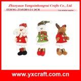 Tela de algodón polivinílica de la Navidad roja del corazón de la decoración de la Navidad (ZY14Y289-1-2-3-4)