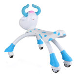 Version Updated Blue & Pink Lovely Cow Baby Walking Car com Wheels Animals Kids Ride em Car 10218546