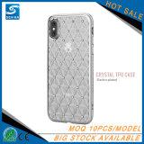Caixa macia ultra fina do telefone móvel do diamante do Rhinestone de TPU para o iPhone 7