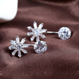 Modo Ol delle donne 925 orecchini dell'a cristallo dell'argento sterlina