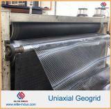 Plástico de polipropileno PP HDPE de poliéster de fibra de vidrio biaxial uniaxial geomalla