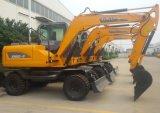 Cavador hidráulico del excavador de la rueda de la maquinaria de construcción 5t 6t 8t 10t 12t 15t para la marca de fábrica del rinoceronte de la venta