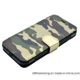 取り外し可能な軍の革札入れのiPhoneのための移動式携帯電話の箱
