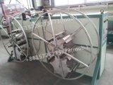 Ligne de expulsion de Productiong de matériel de HDPE en tube de pipe dédiée plate en bambou ondulée contrainte d'avance de haute résistance de pont
