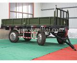 거치되는 8 톤 트레일러 농장 트랙터 트레일러를 내버리기