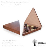 Rectángulo de madera modificado para requisitos particulares color natural del caramelo de chocolate de Hongdao para el _E del embalaje del Sweety
