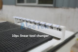 Automatischer hölzerner schnitzender Fräser CNC-3D, 9.0kw Italien Hsd ATC-Spindel-Skulptur hölzerne schnitzende CNC-Fräser-Maschine