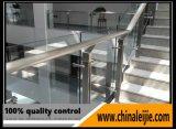 diseño moderno del pasamano del tubo de 42m m de las barandillas redondas de la escalera