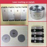 машина маркировки лазера волокна случая iPhone PVC Plastis кольца металла 20W 30W