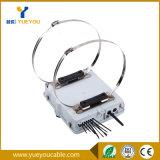 Rectángulo de distribución de fibra óptica al aire libre de 8 memorias con el divisor del PLC