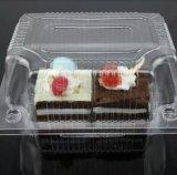 Rectángulo de torta disponible plástico del envase de la bandeja de la fruta de la ensalada del embalaje de la ampolla transparente