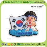Ricordo permanente personalizzato Taekwondo (RC-KR) dei magneti del frigorifero della decorazione promozionale dei regali