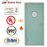 Prueba de fuego puerta de acero / incombustible Probado / UL Certificado con la visión de cristal / Puerta a prueba de fuego