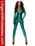 Costume Catsuit Mermaid застежки -молнии фронта втулки маштабов рыб женщин длинний