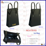 호화스러운 Portable Faux Leather Wine Cooler Bag (1701R3)