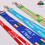 주문 Polyester 또는 Nylon Sublimation Heat Transfer Printed Neck Lanyard