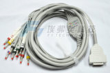 GE 10の鉛ECG EKGケーブルIECのバナナ4.0 Pin