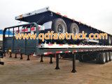 Remorque de lit plat d'essieux de la qualité 3