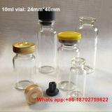 10ml de Flesjes van het glas + 20mm RubberKurk + Kleurrijke Tik weg