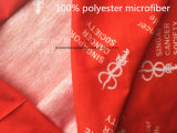공장 OEM 생성 로고에 의하여 인쇄되는 빨간 폴리에스테 Microfiber 이음새가 없는 다기능 밴대나