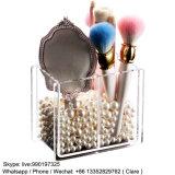 Venta al por mayor de acrílico plástica clara del crisol del cepillo de los cosméticos