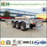 De la Chine 40FT de conteneur remorque squelettique semi et remorque terminale à plat