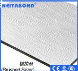 PVDF ignifugent le panneau composé en aluminium utilisé sur le catalogue des prix de mur de Currtain