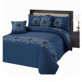 Голубые комплекты постельных принадлежностей вышивки брокколи