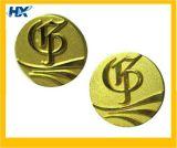 Insignia redonda con chapado en oro