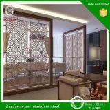 Partition décorative de diviseur de salle de séjour d'écran d'acier inoxydable