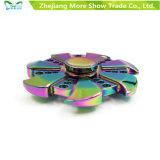 虹カラー金属の合金EDC手の落着きのなさの紡績工の高速焦点のおもちゃ