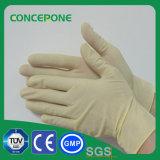 Los guantes no estériles de la examinación del látex se pulverizaron
