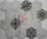 Мозаика ванной комнаты формы шестиугольника керамического смешивания холодная вымощая стеклянная (CFC661)