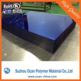 Folha plástica azul do PVC da transparência para Sunglass