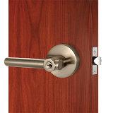 Fechamento de porta ajustado da privacidade da liga do zinco do fechamento de porta da alavanca niquelar do cetim