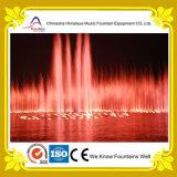 素晴らしい照明装置が付いているおぼろげな湖水音楽噴水