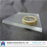 Vidrio solar de cristal del hierro inferior para el calentador de agua solar del módulo de la célula solar