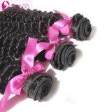 Doppi capelli di trama con capelli umani brasiliani ricci crespi