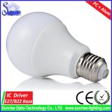 luz de bulbo incandescente de 600lm 7W A60 E27 LED