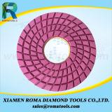 As almofadas de polonês do diamante de Romatools molharam o uso para o concreto