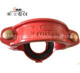 Тройник брошенного/дуктильного утюга высокия стандарта калиброванный/продетый нитку механически - FM/UL зарегистрированное