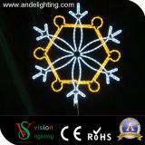중국 제조 크리스마스 훈장 LED 눈송이 빛