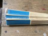 Ventilators van de Hand van het Bamboe van het document de Lege met de Druk van de Serigrafie van de Rib
