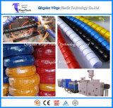 Schlauch-gewundene schützende Verpackungen, die Maschinen-/PET pp. Schlauch-Schoner-Strangpresßling-Zeile bilden