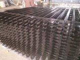 管状の駐屯隊の塀は2100mm x 2400mmの粉によって塗られる黒にパネルをはめる