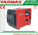 세륨 5kw 5kVA를 가진 Yarmax 휴대용 디젤 엔진 침묵하는 발전기