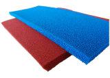 Folha resistente ao calor da borracha de espuma do silicone, folha da borracha de esponja do silicone com a esponja próxima do silicone da pilha